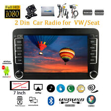 7'' 2 Din GPS Android Car Radio for VW + CAM BT FM iOS Mirror Link Touch Wifi AU