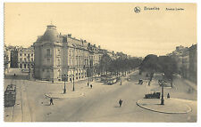 Brussels, Avenue Louise PPC, Unposted by Nels, Trams & Limousine in Street Scene