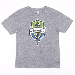 ADIDAS Seattle Sounders FC Grey Sports Short Sleeve T-Shirt Mens L