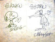CHARLES SCHULZ+JOHNNY HART ORIGINAL SIGNED ART ON NCS 1981 ANNUAL DINNER MENU Comic Art
