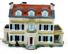 Lighted Porcelain Model of the Oklahoma Governer's Mansion Working Looks Great