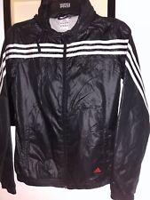 🎁Mens Adidas Black 3 Stripe Windbreaker Light Jacket.size XS