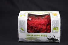 W509 decor Ho train diorama deco 10657 moss boite lichen de rennes red rouge 50g