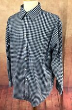 Roundtree Yorke Gold Label Non Iron Perfect Performance Blue Check Shirt Mens XL