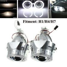 H1/H4/H7 HID Bi-xenon Projector Lens LHD/RHD Headlight w/Light Guide Angel Eye
