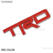 Logo Red TRD Front Grille Grill Emblem For Toyota Hilux Revo Sr5 2015 2016 2017