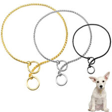 Strong Metal Dog Choker Choke Chain Training Collar Anti-Pull With Ring for Lead