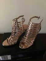 Christian Siriano WOMEN'S KRISSY CAGED PUMP - Rose Gold - Size 7
