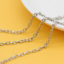 2x3mm Gold/silver/bronze Cable Open Link oval Iron chain finding jewelry making