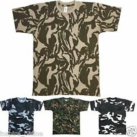MENS COTTON SMART CADET COMBAT MILITARY ARMY CAMOUFLAGE GYM FISHING T SHIRT TOP