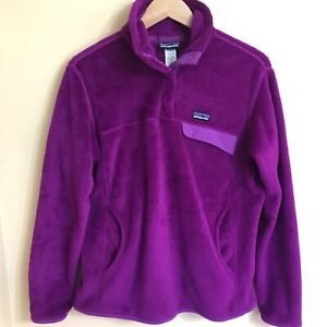Patagonia retool snap t fleece pullover jacket purple women's large L