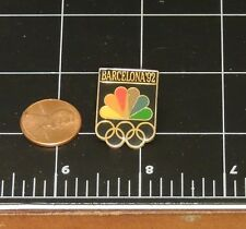 1992 Olympic NBC Barcelona Pin Sports Radio Television Broadcast brass