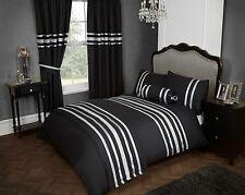 King size parure de lit glitz noir argent trim 200 fils au pouce 100% coton