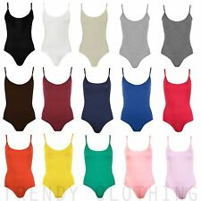 Womens Sleeveless Cami Top Bodysuit Leotard Camisole Vest