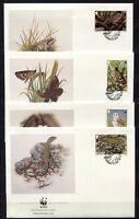 S3729) Jersey 1989 MNH Wwf, Animals 4v FDC