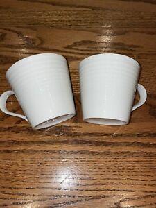 Set of 2 ROYAL DOULTON Gordon Ramsay MAZE White MUGS 14 oz - EUC