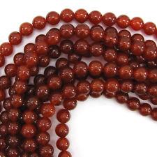 Red Carnelian Round Beads Gemstone 15
