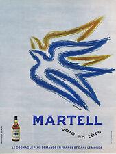 PUBLICITE ADVERTISING 064 1968 MARTELL cognac par Villemot
