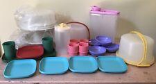 Tupperware 22 Pc. Child Mini Baking Serving Lot Plates Cups Serve It All Bowls