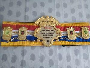 Muhammad Ali One Off Ring Magazine Boxing Belt