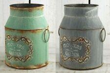 Metal Milk Churn Shabby Rustic Plant Pot Vintage Style Wedding Flower Vase Jug