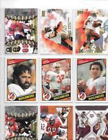 LOT OF 200 BUCCANEERS FOOTBALL CARDS WITH WARRICK DUNN & WARREN SAPP