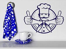 Wall Sticker Chef Jacket Toques Dish Food Cool Vinyl Decal (n343)
