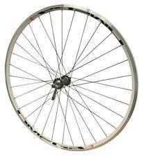 700c Shimano 105 Road Bike Mach Omega White Front Wheel Black Spokes
