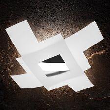 Plafoniera in vetro bianca e cromata moderna a 4 luci tpl 1121/95-CR