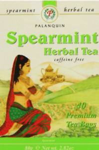 Palanquin 4 x Spearmint 40 Herbal Tea Bags Sweet Fresh Aroma Helps Digestion