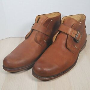 UGG Australia Men's Size 12 Graham Monk Strap Brown Leather Ankle Chukka Boots