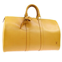 AUTH LOUIS VUITTON KEEPALL 45 TRAVEL HAND BAG NATURAL NOMADE SP ORDER A43605