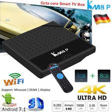 KM8P Android 7.1 Smart TV Box Octa core S-912 4K 8GB WiFi OTA 3D Media Streamer