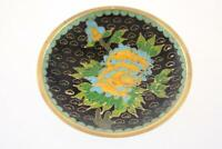 VINTAGE CHINESE CLOISONNE FLORAL MOTIF SMALL PLATE