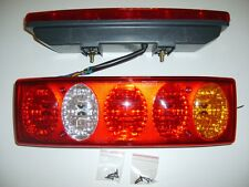 Set of 2 x Rear Truck Tail Lights Lamps Van Pickup Lorry Tipper Chassis 5 lights