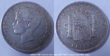 Moneda de 5 pesetas. Alfonso XIII año 1897 SGV. Plata. Peso 25 gr.
