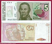 ARGENTINA  - 5 AUSTRALES 1985  SERIE  A ,   P. 324b , 324 b ,   FDS/UNC