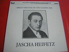 LP JASCHA HEIFETZ GREAT VIRTUOSI OF THE GOLDEN AGE PEARL MONO NUOVO