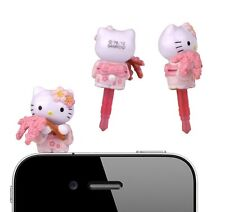 rare hello kitty japan kimono holding sakura cell phone anti dust plug