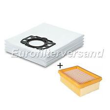 10 x Vlies Staubsaugerbeutel + 1 x Luftfilter für Kärcher MV 4 / 5 / 6 / Filter
