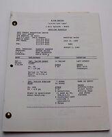 "ALIEN NATION / 1989 TV Series Script, Flying Saucer Crash ""Little Lost Lamb"""