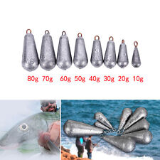5× Drop Shot Water Droplets Finesse Weight Lead Sinker Terminal With Rigs K7u 40g