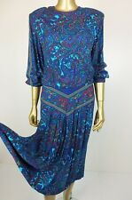 ONE OFF! VINTAGE PAISLEY DRESS - DROP WAIST SKIRT DRESS - AMAZING DESIGN