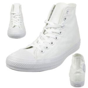 Converse C Taylor A/S Hi Chuck Chaussures Baskets en Toile Blanc 1U646