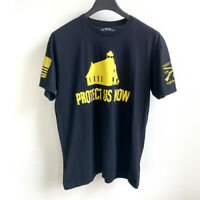 GRUNT STYLE Protect Us Now T-Shirt sz XL 100% Cotton Shield Our Schools
