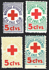 1940's-50s Columbian Republic Red Cross - set of 4 different