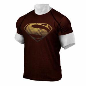 Men's Superman Gym Singlets Short T-shirt Bodybuilding Fitness Sports Clothes