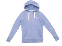 Superdry Womens Size S Cotton Blend Blue Hoodie (Regular)