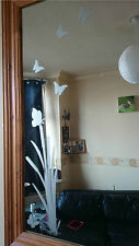 VINYL ETCHED GLASS EFFECT BULLRUSHES AND BUTTERFLIES WINDOW MIRROR STICKER DECAL