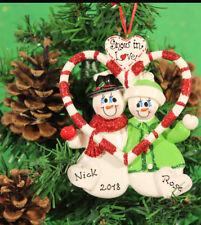 COPPIE personalizzato per albero di Natale ornamento decorazione neve DOLCEZZE